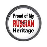 Proud Russian Heritage Wall Clock