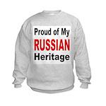 Proud Russian Heritage (Front) Kids Sweatshirt