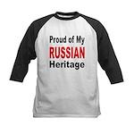 Proud Russian Heritage Kids Baseball Jersey