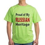 Proud Russian Heritage Green T-Shirt