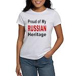 Proud Russian Heritage (Front) Women's T-Shirt