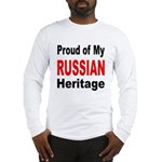 Proud Russian Heritage (Front) Long Sleeve T-Shirt