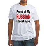Proud Russian Heritage (Front) Fitted T-Shirt