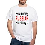 Proud Russian Heritage White T-Shirt
