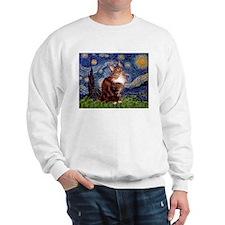 Starry Maine Coon Sweatshirt