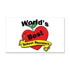 Cute Worlds greatest secretary Rectangle Car Magnet