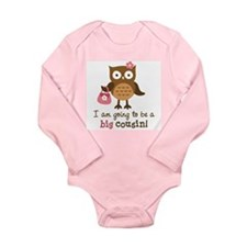 Big Cousin to be - Mod Owl Long Sleeve Infant Body