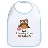 Big Cousin to be - Mod Owl Bib