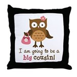 Big Cousin to be - Mod Owl Throw Pillow