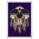 Native Crow Mandala Banner