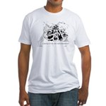 GSE black/white Fitted T-Shirt