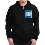 Personalize Design Zip Hoodie (dark)