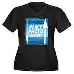 Personalize Design Women's Plus Size V-Neck Dark T