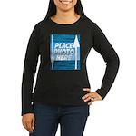 Personalize Design Women's Long Sleeve Dark T-Shir
