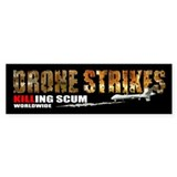 Drone Strikes killing scum Car Sticker