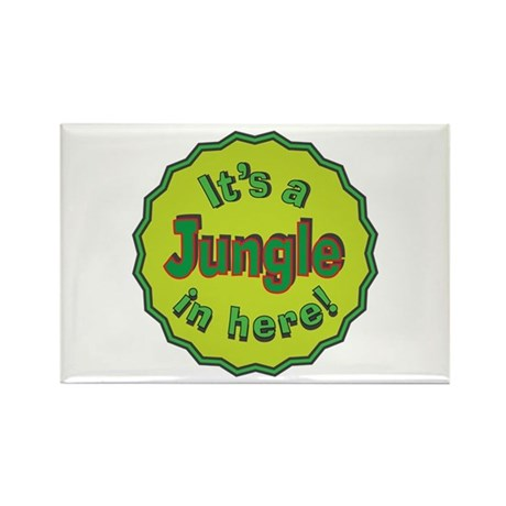 It's a Jungle in Here Rectangle Magnet