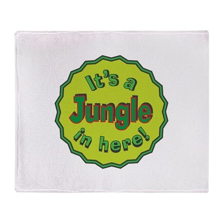It's a Jungle in Here Throw Blanket