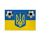 Ukrainian Football Flag Rectangle Magnet (10 pack)