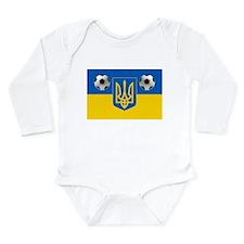 Ukrainian Football Flag Long Sleeve Infant Bodysui