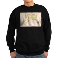 Vintage Map of Island Sweatshirt