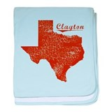 Clayton, Texas (Search Any City!) baby blanket