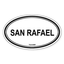 San Rafael oval Oval Decal