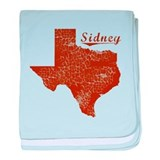 Sidney, Texas (Search Any City!) baby blanket