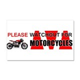 Please Watchout for Motorcycles Car Magnet 20 x 12