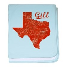 Gill, Texas (Search Any City!) baby blanket