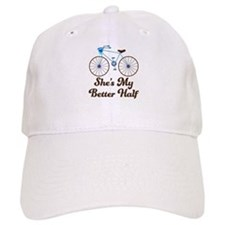 She's My Better Half Quote Mens Bike Design Baseball Cap