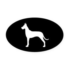 Great Dane Oval Car Magnet