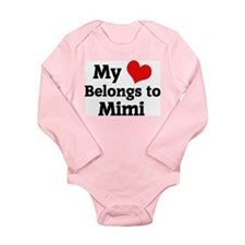 Unique I love mimi Long Sleeve Infant Bodysuit