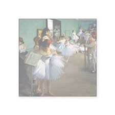 "Degas - Dance Class Square Sticker 3"" x 3"""