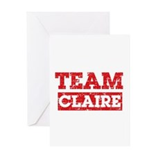 Team Claire Greeting Card
