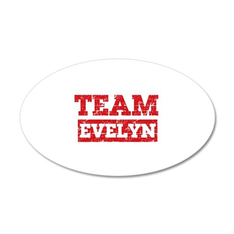 Team Evelyn 20x12 Oval Wall Decal