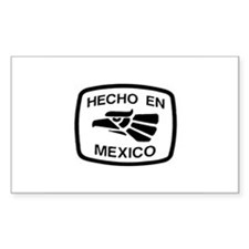Hecho En Mexico - Made In Mex Sticker (Rectangular