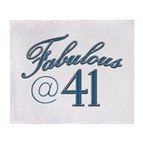 Fabulous at 41 Throw Blanket