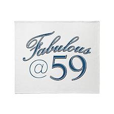 Fabulous at 59 Throw Blanket