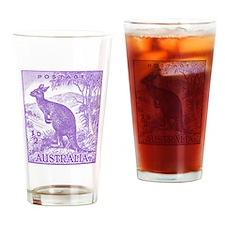 1937 Australian Kangaroo Stamp Purple Drinking Gla