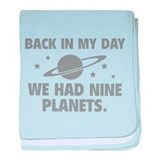 We Had Nine Planets baby blanket