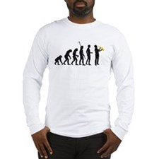 evolution saxophone player Long Sleeve T-Shirt