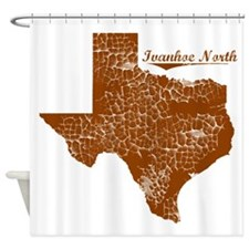 Ivanhoe North, Texas. Vintage Shower Curtain