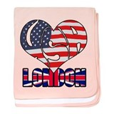 2012 USA London baby blanket