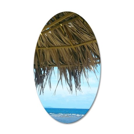 La Guancha Beach 35x21 Oval Wall Decal