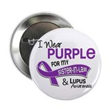 "I Wear Purple 42 Lupus 2.25"" Button (10 pack)"