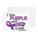 I Wear Purple 42 Lupus Greeting Cards (Pk of 20)