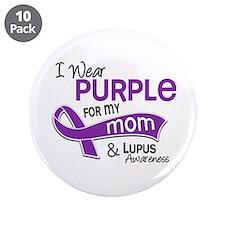 "I Wear Purple 42 Lupus 3.5"" Button (10 pack)"