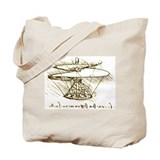 Aerial Screw by da Vinci Tote Bag