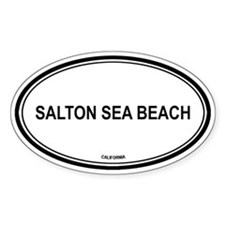 Salton Sea Beach oval Oval Decal