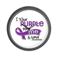I Wear Purple 42 Lupus Wall Clock